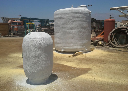 Spray Polyurethane Storage Tank Insulation