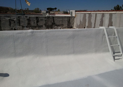 Spray Polyurethane Foam Roofing System for Commercial Building